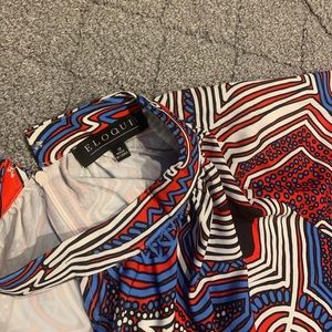 Eloquii Dresses - Eloquii Cut Out Print Dress